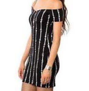 Blacklist bones tight mini off-the-shouder dress